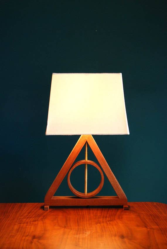 """""""Wow, what a cool triangle lamp,"""" the unsuspecting muggle says."""