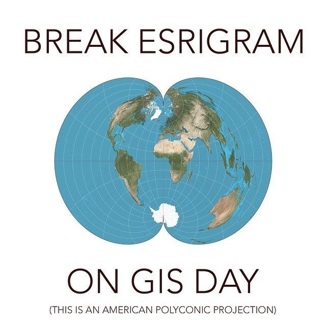 Post all your fun GIS Day photos on Instragram on Wednesday and don't forget to use #GISDay @esrigram. Let's see if we can break Esrigram!