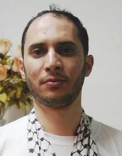 A photo of Mu'taz Hijazi, taken shortly after his release from prison.