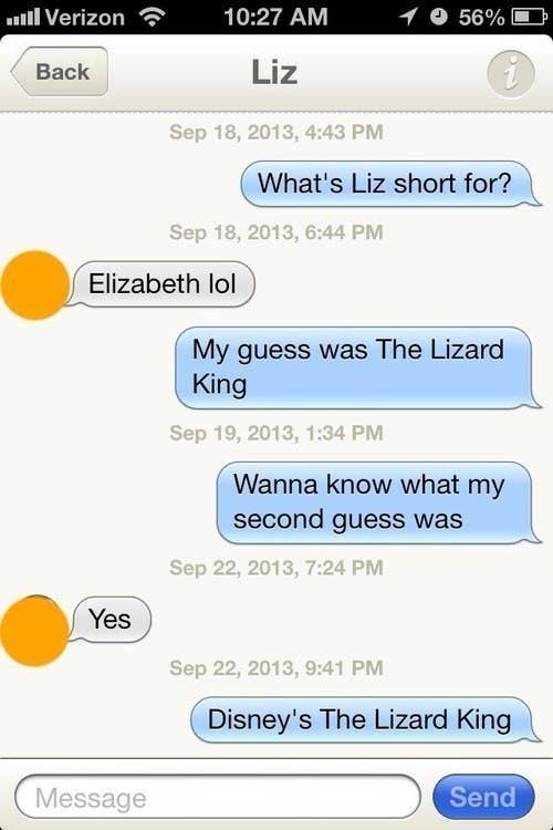 interesting text conversations