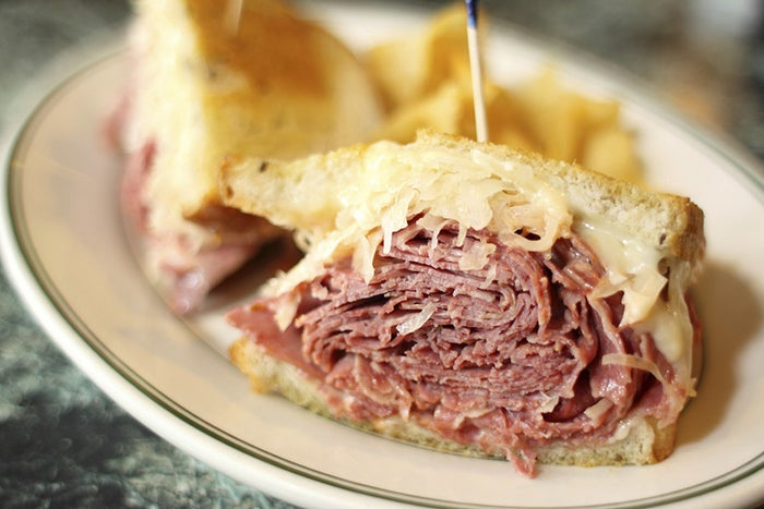 Although there are many conflicting accounts of how the Reuben Sandwich was first brought to life, there are two theories that are especially popular. One involves Reuben's delicatessen in Manhattan, where it is said the Reuben was first created to feed Annette Seelos, Charlie Chaplin's hungry leading lady. The second theory involves a grocer in Omaha named Reuben Kulakofsky. Some say Kulakofsky created the now famous Reuben sandwich to feed players in one of his late-night poker games at Omaha's Blackstone Hotel. It wound up being such a hit that the hotel owner put it on the menu in his honor. In 2005, the Reuben got its biggest break yet with its introduction to the Arby's menu.