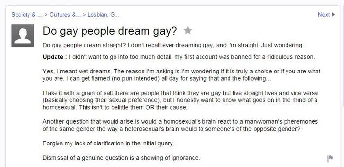 38 Random And Totally Bizarre Yahoo Answers About Gay People