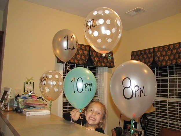 Get Activities Going With A Balloon Schedule Which Pops On The Hour Revealing Whats Agenda