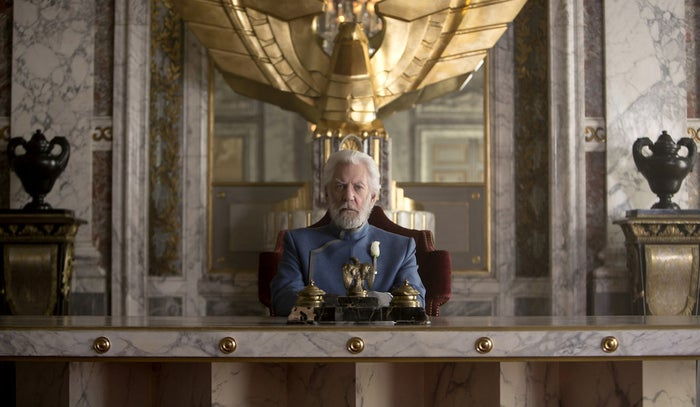 Donald Sutherland in The Hunger Games: Mockingjay – Part 2.
