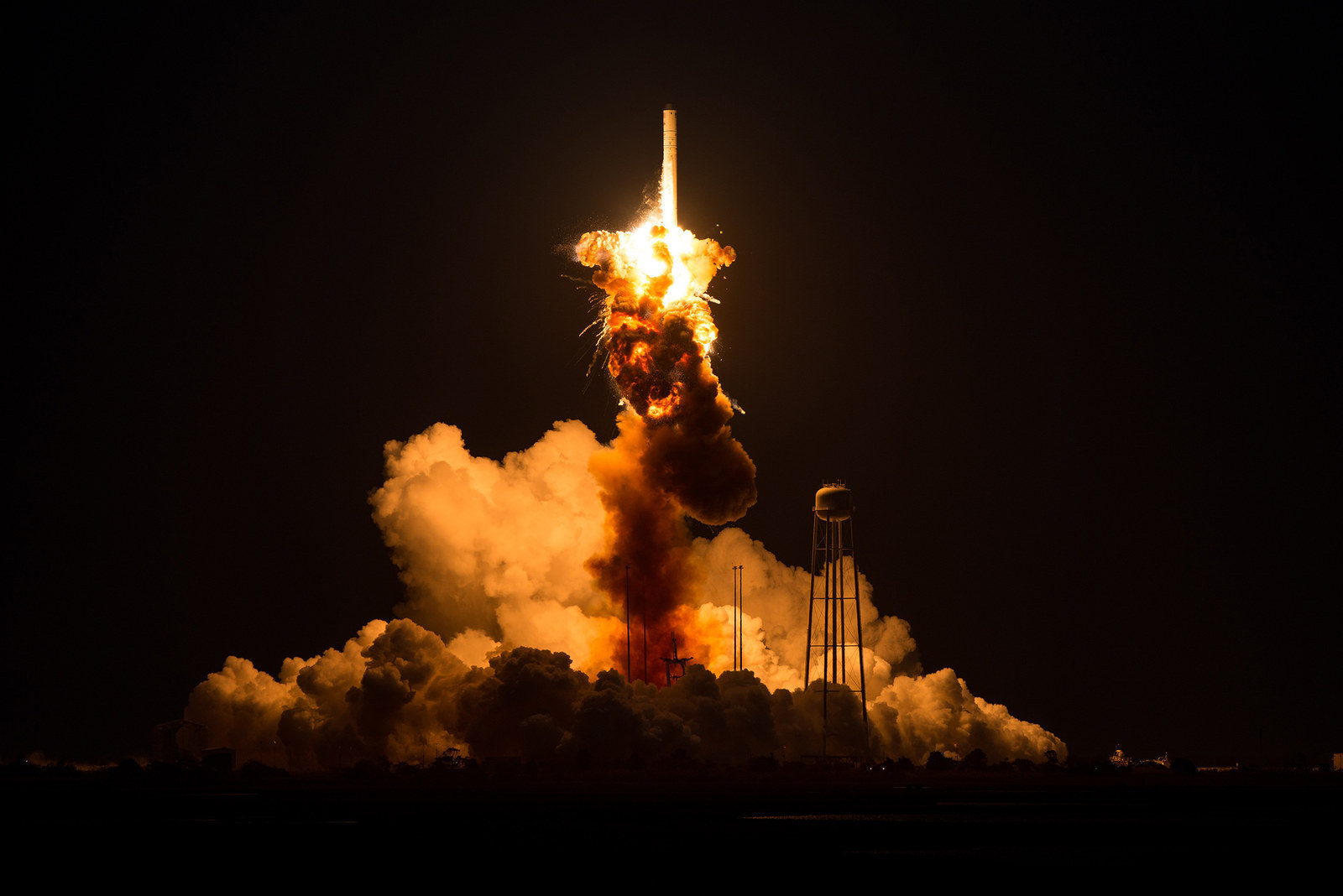 The Orbital Sciences Corporation Antares rocket with