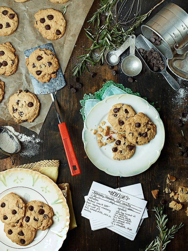 Rosemary makes everything taste more holiday-y, chocolate chip cookies included. Get the recipe.