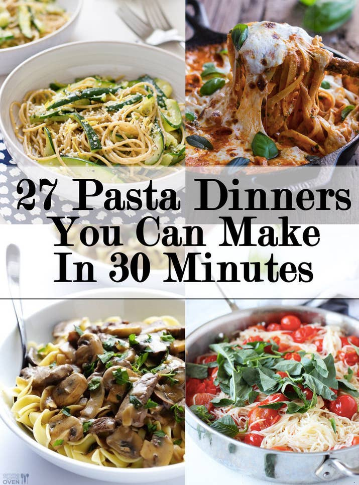27 delicious ideas for weeknight pasta dinners share on facebook share forumfinder Choice Image