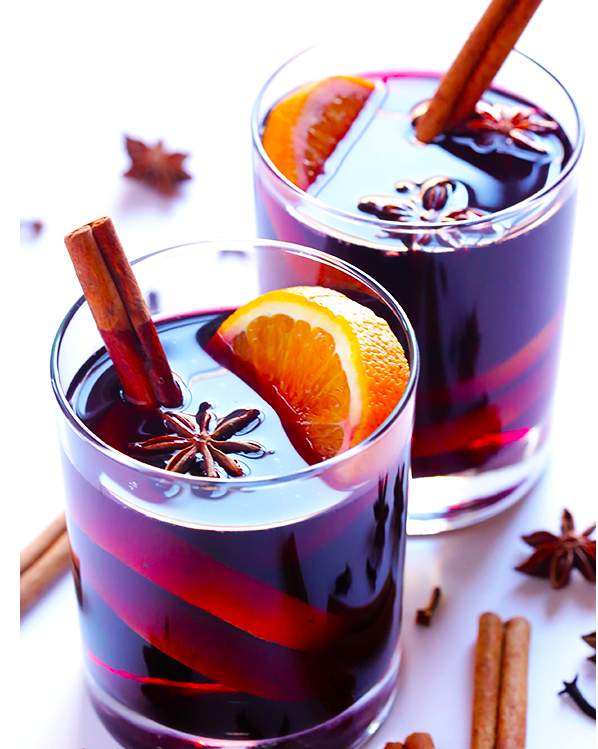 Stove Top-Mulled Wine With Brandy