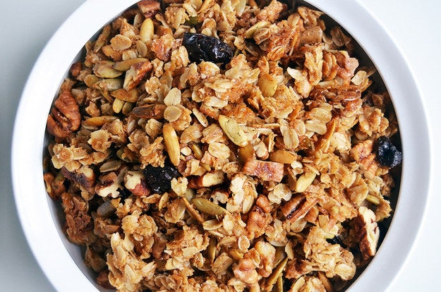 This granola takes a savory spin on things - and comes with instructions on how to turn it into a cute gift!