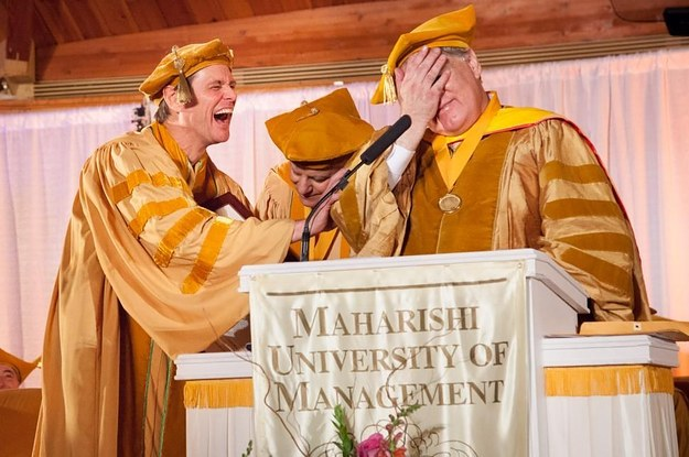 jim carrey graduation speech maharishi university