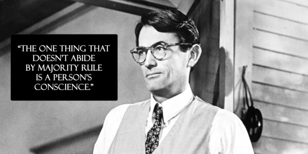 life lessons atticus finch from  quot to kill a mockingbird quot  taught us   think for yourself  instead of following the crowd