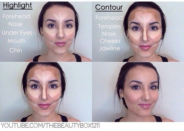 Contouring: not just for celebrities.