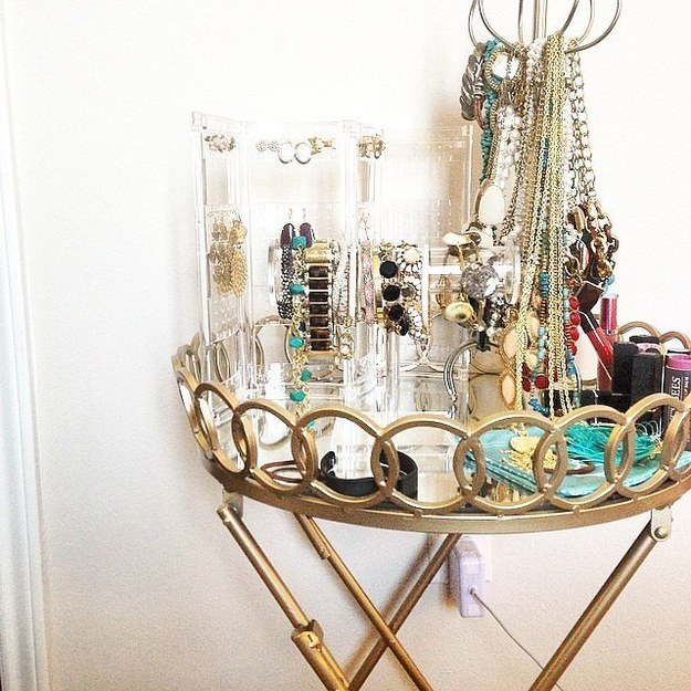 Turn one into a jewelry display.