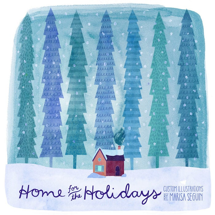 Marisa Seguin has always loved to draw buildings and - lucky you! - she offers custom illustrations of them in her shop. You send her a picture of a house (your childhood home, the cabin you always visited growing up, etc.) and she'll illustrate it and mail it to you in print form. Awesome!