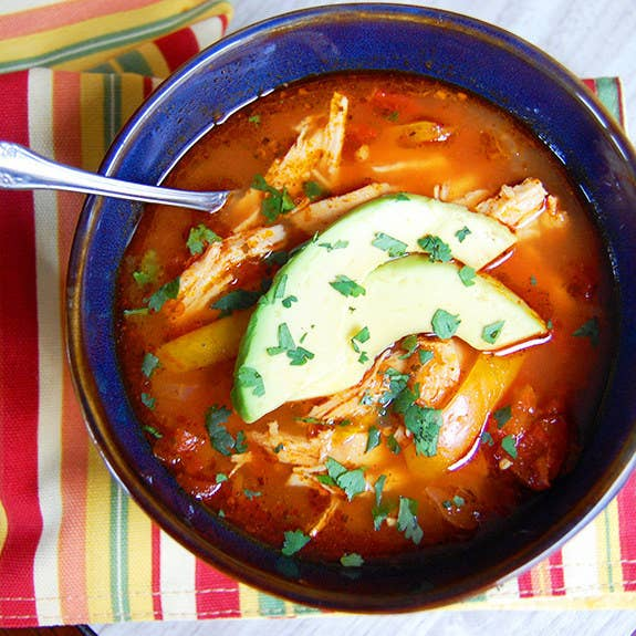One of the biggest hurdles to eating more healthy food is cooking more healthy food. Sometimes you just don't have the time or energy, and that is why God created slow cookers. They cook things slowly, with plenty of liquid, which means you won't need nearly as much fat to keep things delicious. You just throw all the ingredients in in the morning, press a button, and come home later to a hot, healthy meal. Try this chicken enchilada soup, a root vegetable stew, or chicken provençal. Don't like stew? Try this lazy quinoa lasagna, or, if you're willing to spend a few extra minutes with a skillet, this mushroom barley risotto.