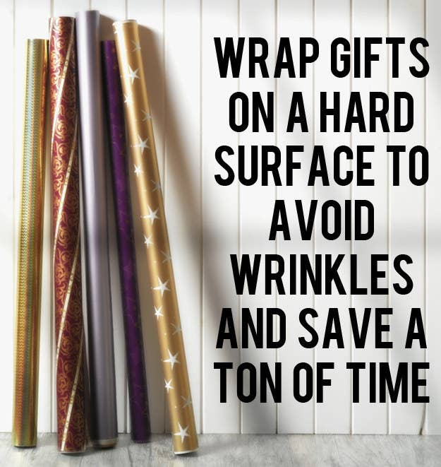 It may be easier to plop in front of the TV on a carpet, but it will take you twice as long to wrap and everything will look worse.