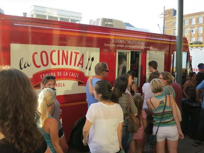 """From her food truck, La Cocinita, Rachel Billow prepared fresh, Latin American cuisine like arepas, ceviche and gazpacho on the streets of New Orleans. But outdated regulations from the 1950s held her back. The city only allowed 100 licenses for mobile food vendors. It took Rachel """"several months of frustrating visits to City Hall"""" before she finally could get a permit. Unfortunately, that didn't end the regulatory hassles. Like too many other cities, New Orleans banned food trucks from operating within 600 feet of a brick-and-mortar restaurant. Plus, food trucks could only vend for up to 45 minutes.Rachel and mobile cuisine vendors created the New Orleans Food Truck Coalition and worked with IJ to overhaul the Crescent City's food truck laws. After months of debate, a compromise bill passed the city council. But Mayor Mitch Landrieu vetoed it over concerns that the ordinance """"may be unconstitutional"""" and """"would not withstand a legal challenge.""""A new bill was drafted that removed the proximity ban, let food trucks vend for up to four hours in one spot, and more than doubled the number of permits for street vendors. With the mayor's blessing, it passed unanimously in 2013. Laissez les bon temps rouler!"""