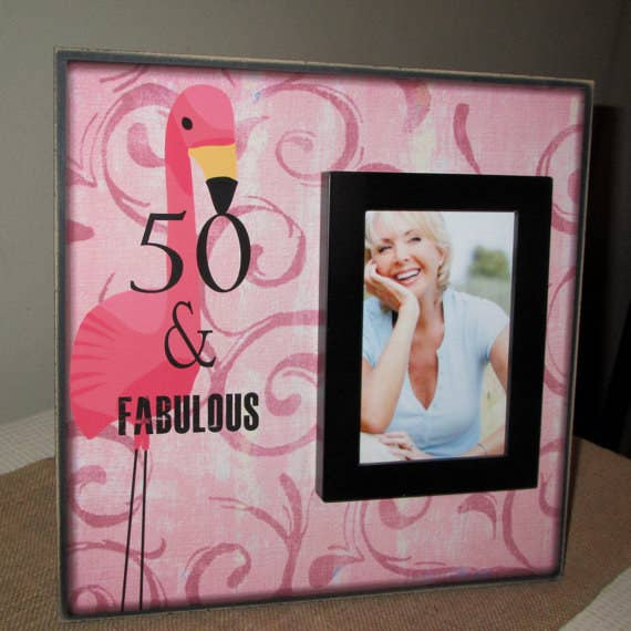For the friend who's 50 and fabulous. And loves flamingos.