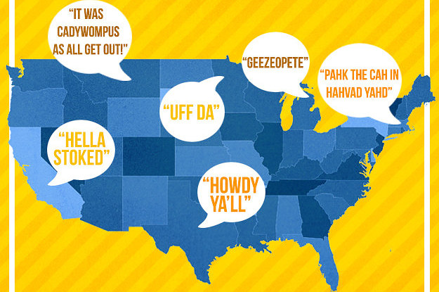 Can You Guess The US Accent - Accent map of us