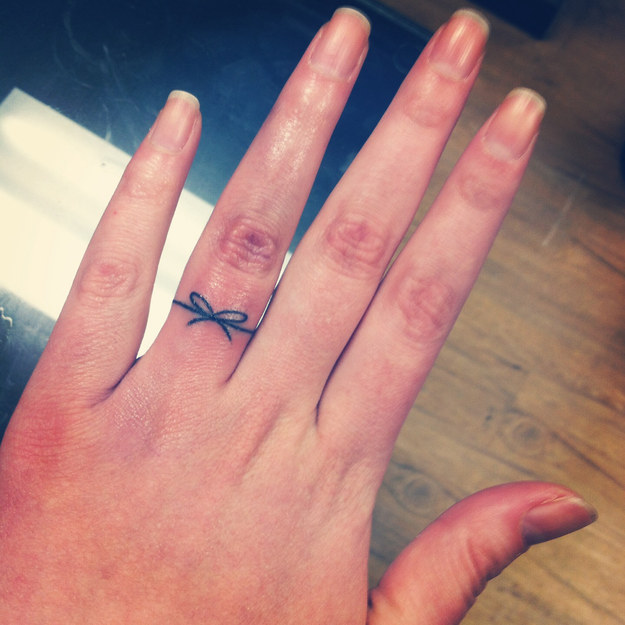 tattoed wedding rings
