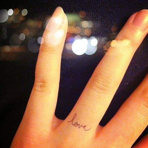 18 say how youre really feeling - Wedding Ring Finger Tattoos