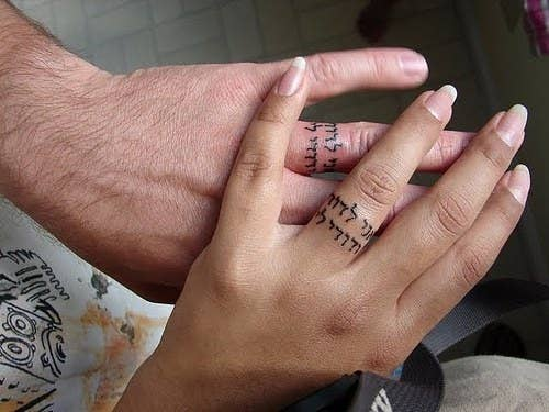 32 scrawl forever in your native language - Tattoo Wedding Rings