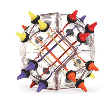 This challenging game requires you to untangle scrambled cables within the clear casing until you have each color grouped together without interfering with another color set.