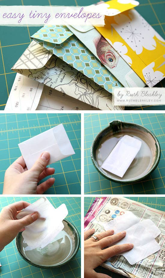 Use this tutorial to make tiny envelopes, or follow the same steps with these envelope templates for other sizes. Make envelopes for all of your letter sending needs, because snail mail is the best mail. 🐌📬