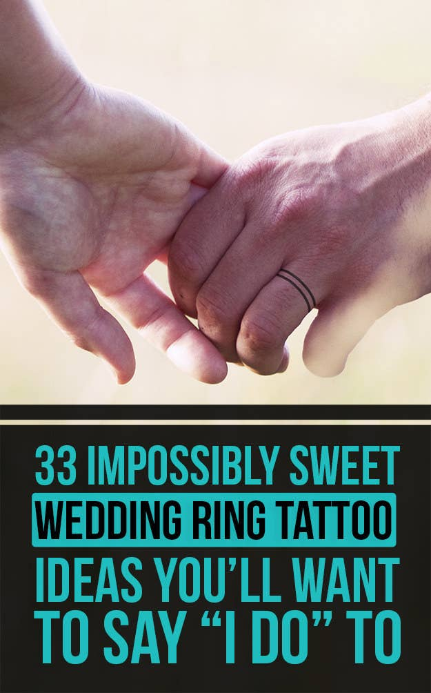 33 Impossibly Sweet Wedding Ring Tattoo Ideas Youll Want To Say I Do