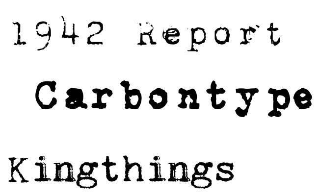 Try 1942 Report CarbonType Or Kingthings Trypewriter