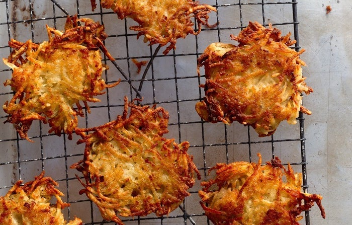 (Get the recipe for these crispy beauties at Bon Appétit or check out this smart, helpful step-by-step latke guide at Serious Eats.)