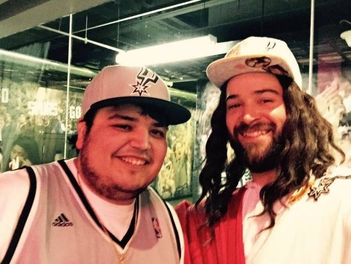 When the San Antonio Spurs are playing or if you run into Spurs Jesus, you can't help but to smile. And that smile is usually perfect for a selfie!