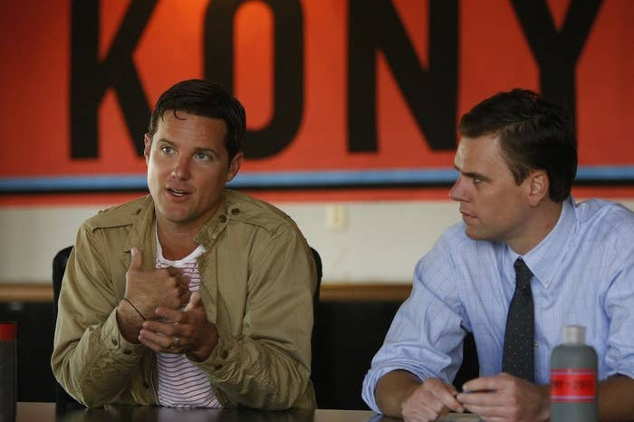 Invisible Children chief creative officer Jason Russell and CEO Ben Keesey in San Diego on Oct. 2, 2012.