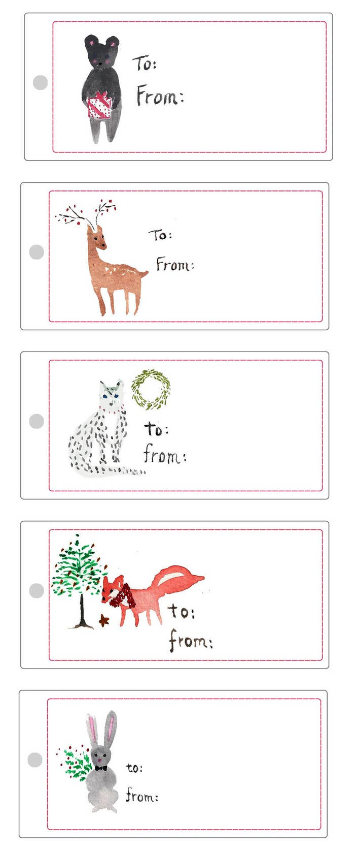 24 Adorable Free Gift Tags You Can Print Right Now