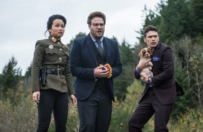 Diana Bang, Seth Rogen, and James Franco in The Interview