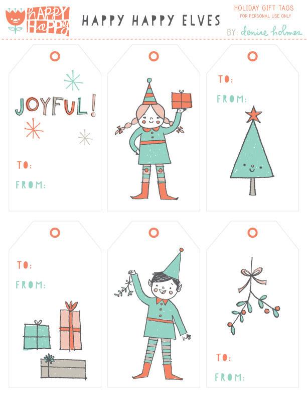christmas gift tags templates