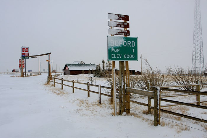 Formerly sporting a bustling population of two, Buford now only has a single resident. Add that to the fact that it's located in the middle of Wyoming—the least populated state in the union—and you have one hell of a bad place to vacay.