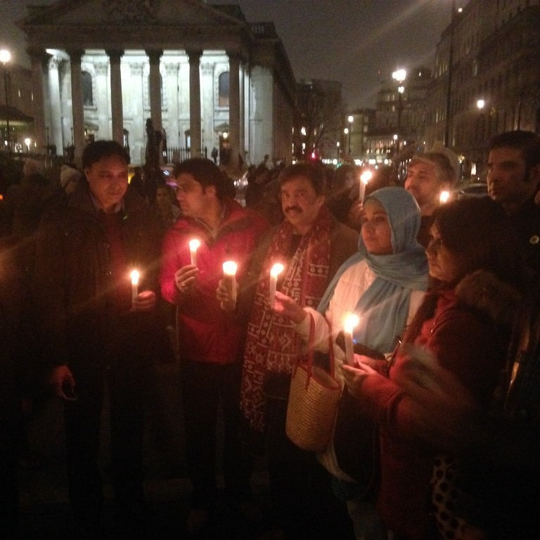 Hundreds Of Muslims Held A Candlelight Vigil In London For