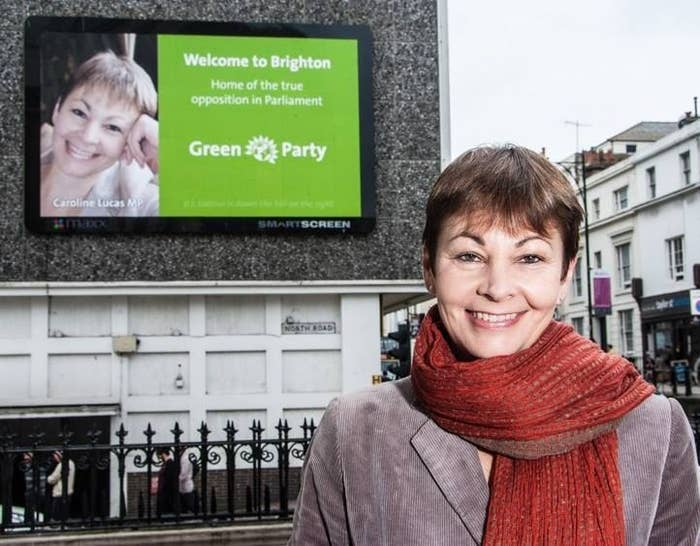 Caroline Lucas is the Greens' only MP, for now.