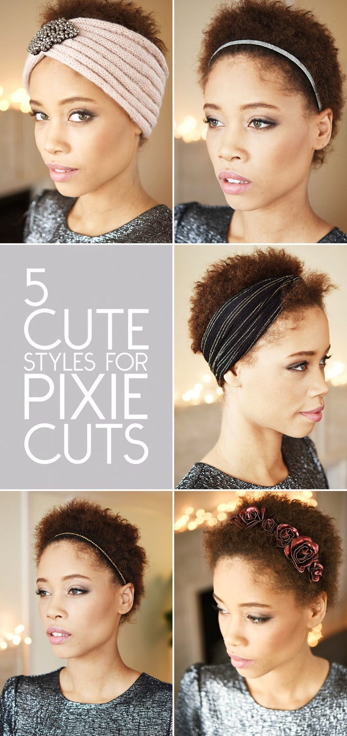 Pixie cuts may be the lowest maintenance style out there, which means hair accessories can completely change the game. Headbands! Crowns! Headwraps! A hair accessory is a pixie cut's best friend.