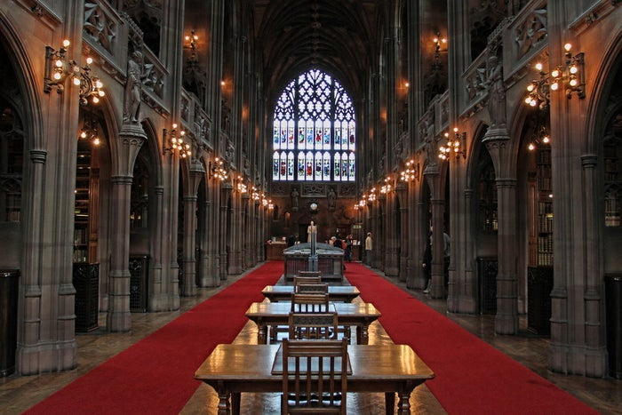 Manchester had the first ever free library, and some of the most impressive architecture in the city is dedicated to education. If you fancy a look at the first ever cookbook, John Ryland's Library on Deansgate is a must. And the Central Library on St Peter's Square is equally beautiful.