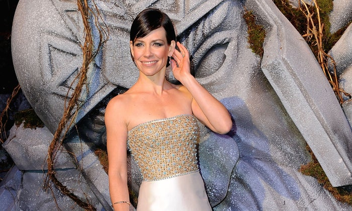 Evangeline Lilly at the London premiere of The Hobbit: The Battle of the Five Armies on Dec. 1, 2014
