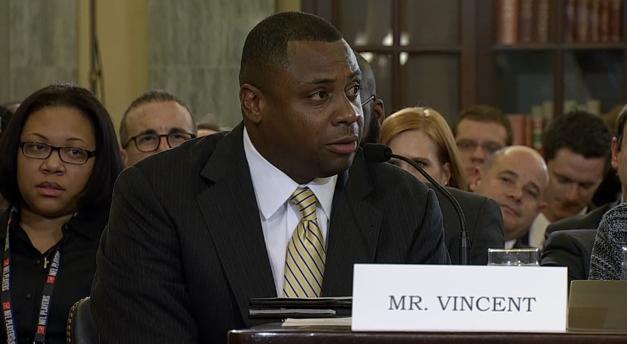 NFL Executive Troy Vincent Breaks Down During Senate Hearing On Domestic Violence