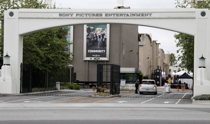 An entrance gate to the Sony Pictures lot in Culver City, California.