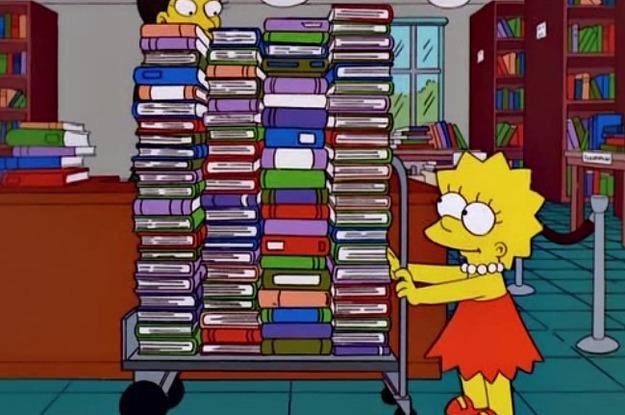 Resultado de imagem para lisa simpsons books gifs