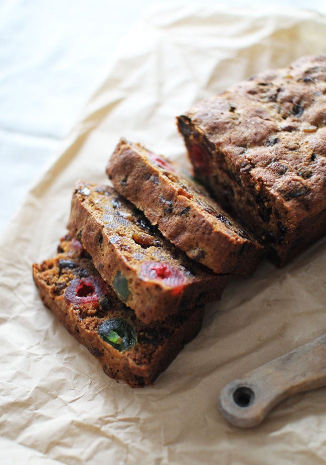 Haters gonna hate on fruitcake, but I will support ANY cake that has 1/2 cup of alcohol in it. Get the recipe.
