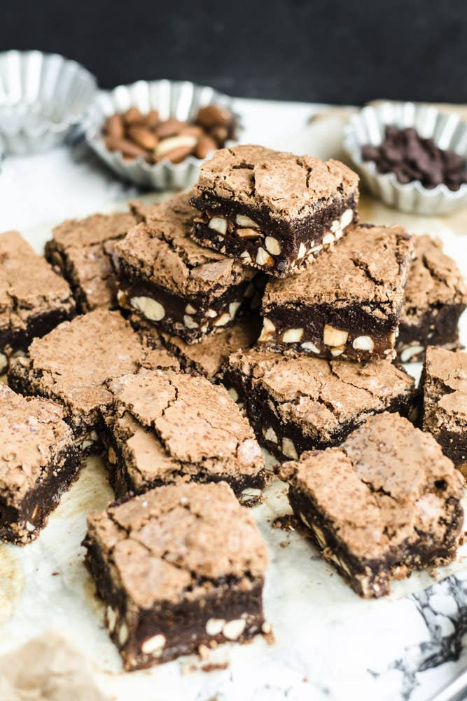 If you don't like your brownies full of almonds, spices, and alcohol, then I'm not sure we can be friends. Get the recipe.