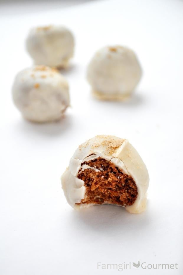 You could skip the candy coating and just let these be naked bourbon balls if you're feeling lazy. Get the recipe.