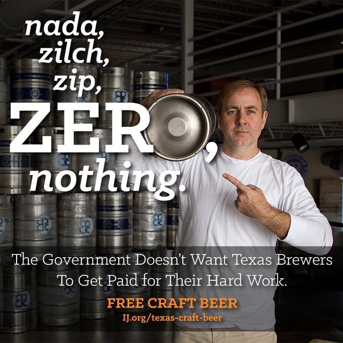 """Microbreweries are flourishing in Texas. But now the state is demanding these entrepreneurs hand over millions of dollars in property rights to politically connected beer distributors—and they can't receive a single cent. Distributors used to compensate brewers for the right to sell their beer in markets like Houston or Austin. But thanks to a sales restriction passed in 2013, brewers can no longer """"accept payment in exchange for an agreement setting forth territorial rights."""" So under the new law, brewers are forced to give up their distribution rights to distributors for free. Even worse, distributors can then sell those rights to other distributors and pocket the money. In other words, Texas made it illegal for craft brewers to profit from their own beer. As long as this law stands, microbreweries will find it incredibly difficult to expand their business to other parts of the state. The law was passed over the objections of Texas brewers. Only one group supported it: distributors, who clearly stood to gain from its passage. The law's impact was immediately understood by both brewers and distributors. Dallas-based brewer Michael Peticolas had been negotiating with distributors for territorial rights at the time the law was passed. After it passed, those negotiations abruptly ended."""
