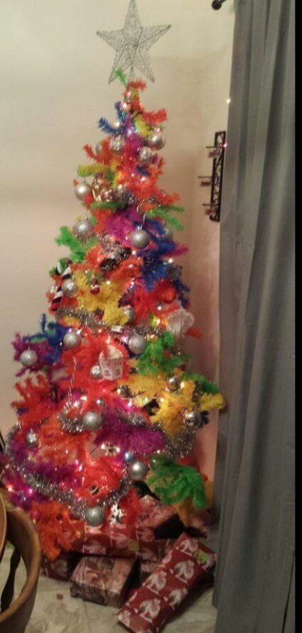 Tie Dye Christmas Tree - Image Home Garden and Tree Rtecx.Com